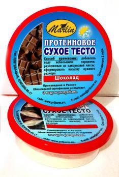 """Высокопротеиновое сухое тесто """"Шоколад"""" 150мл"""
