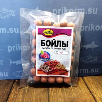 "Бойлы вареные ""Марлин"" №18 пакет 100 гр  Клубника"