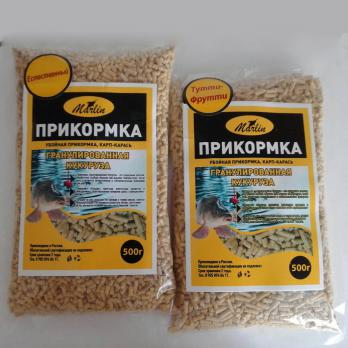"Прикормка Кукуруза гранулированная ""Марлин"" Мотыль"